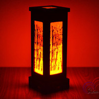 Oriental Vintage MDFL Natural Mulberry Paper Lamps Home Lighting Furniture Bedroom Decorate Wooden Lamp Handmade