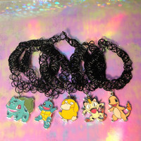 POKEMON Inspired TATTOO CHOKER Necklace