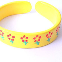 Yellow cuff bangle
