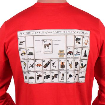 Periodic Table of the Southern Sportsman in Woodland Red by Southern Point Co.