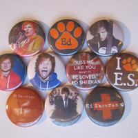 Ed Sheeran Music Pinback Button Badge Pin (pack of 10)