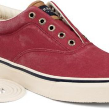 Sperry Top-Sider Striper CVO Salt Washed Twill Sneaker Red, Size 10.5M  Men's Shoes