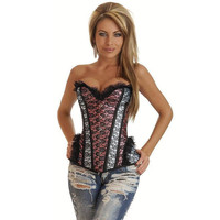 Hot Deal On Sale Cute Lace Sexy Pale Violet Steel Boned Palace Corset Exotic Lingerie [4965281156]