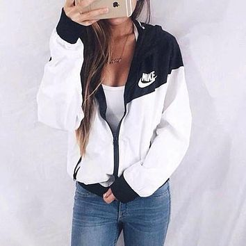 nike hooded zipper cardigan sweatshirt jacket coat windbreaker sportswear-3