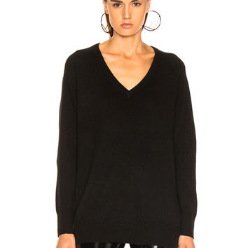 Equipment Asher Cashmere V Neck in Black | FWRD
