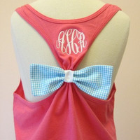 "The ""ORIGINAL"" Bow Tank w/ Monogram and Pocket"