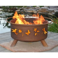 SheilaShrubs.com: Flower & Garden Fire Pit F110 by Patina Products: Fire Pits