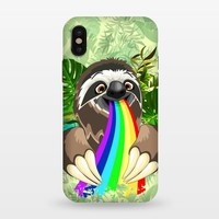 Sloth Spitting Rainbow Colors - StrongFit iPhone X Cases | ArtsCase