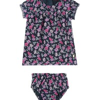 Baby 2 Piece Poppies N' Posies Chiffon Dress Set by Juicy Couture