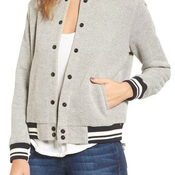 cupcakes and cashmere Carlton Cotton Varsity Jacket | Nordstrom