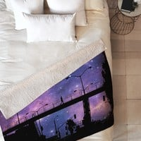 Shannon Clark Night Walk Fleece Throw Blanket
