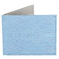 Blue Tangle Abstract Billfold Wallet