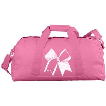 Pink Cheerleader Duffle Bag