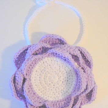 Layered Flower Bib PDF Crochet Pattern INSTANT DOWNLOAD