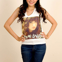 Demi Lovato Pop Punk Indie Rock Vintage Women Fashion T shirt Tank Top Crop Size S M L