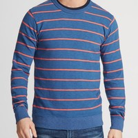 Summer Weight Sweatshirt - Blue & Orange Stripe