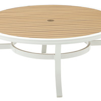 Gloster, Roma Cocktail Table, White, Outdoor Dining Tables