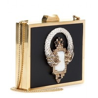 mytheresa.com - Metal-framed leather-covered box clutch - Luxury Fashion for Women / Designer clothing, shoes, bags