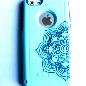Mandala Flower Pattern Otterbox iPhone 5C case, case cover iphone 5c otterbox ,iphone 5c otterbox case,otterbox iphone 5C, otterbox