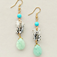Luna Mint Earrings - Genuine Quartz