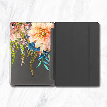 Orange Flowers iPad Pro 10.5 Case iPad Pro Smart Cover iPad 9.7 2017 iPad 9.7 Rose Gold iPad Gold iPad Pro 10.5 Mint Gold or Rose Gold