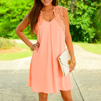 Fly Away Crochet Dress, Pink