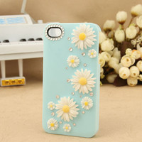 iPhone 4 case flower case Bling  case Swarovski 3 D Case crystals Rhinestone Handmade iPhone case Bling decorate iPhone 4s case