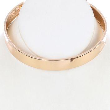 "12"" shape open cuff choker collar .60"" wide necklace"