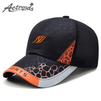 [AETRENDS] New 2017 Man Woman Baseball Caps Men's Hats Breathable Summer Mesh Cap Polo