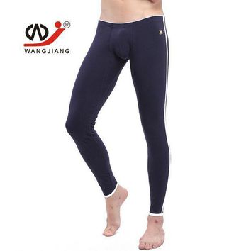 Mens Winter Fleece Thermal Underwear New  Cotton Sexy Thermo Underwear Man Long John Underpants