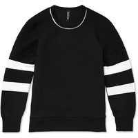 Neil Barrett - Zipper-Trimmed Tech-Jersey Sweatshirt | MR PORTER