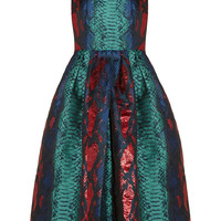 House of Holland - Metallic snake-jacquard dress