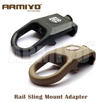 Armiyo Rail Sling Swivel Attachment 20mm Weaver Picatinny Handguard Rail Mount Adapter Hunter Airsoft Hunting Shot Product