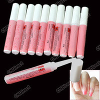 Mini Beauty 10 pcs Professional Nail False Art Acrylic Glue Decorate Tips Pink