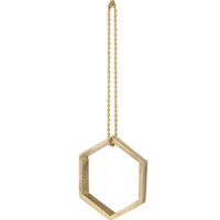 Brass Hexagon Ornament - 50% OFF - Brass Hexagon