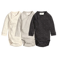 3-pack Wrap-style Bodysuits - from H&M