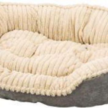 DCCKU7Q Ethical Sleep Zone 32' Gray Plush Bed Carved