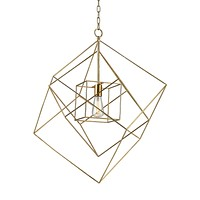 Neil 1 Light Box Pendant In Gold Leaf - Large