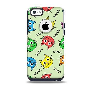 Colorful Cat iCons Skin for the iPhone 5c OtterBox Commuter Case