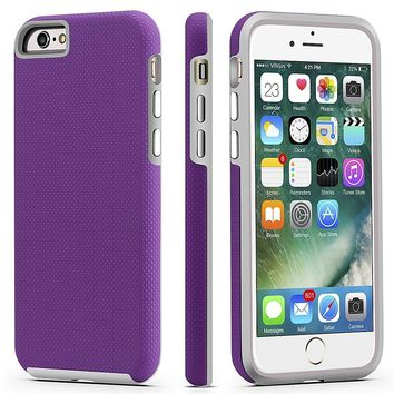 iPhone 6 / 6s Case, CellEver Dual Guard Protective Shock-Absorbing Scratch-Resistant Rugged Drop Protection Cover for Apple iPhone 6 / 6S (Purple)