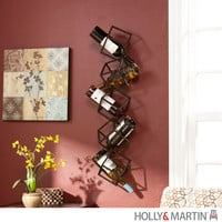 Holly & Martin 93-244-062-3-12 Vallejo Black Wall Mount Wine Storage Unit