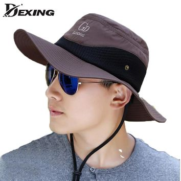 2018 wide brim sun hat Breathable waterproof fishing hat UV Protection  Visors bucket hat  fisherman fishing cap panama hat