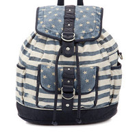 Teens Blue Stars and Stripes Backpack