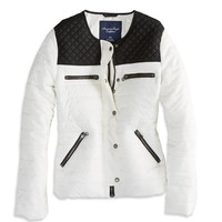 AEO Women's Quilted Puffer (Chalk)
