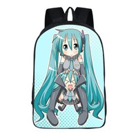 Japan Anime Hatsune Miku Backpacks For Teenagers School Bag Student Backpack 16 Inch 17 style