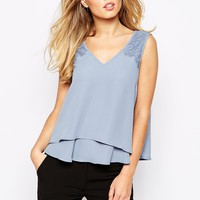 Y.A.S London Sleeveless Lace Top