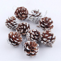 9Pcs/set Christmas Tree Ornament Hanging Balls Pine Cones Christmas Decoration