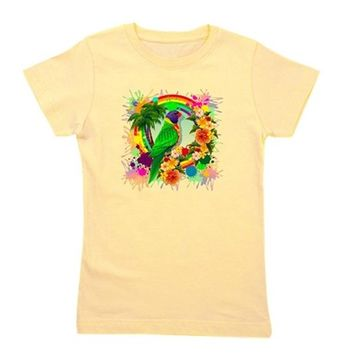 Rainbow Lorikeet Parrot Art Girl's Tee