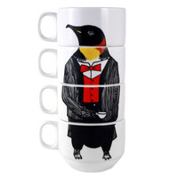 Mr Penguin Stacking Coffee Cups
