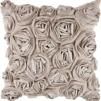 Rustic Romance Throw Pillow Brown, Neutral